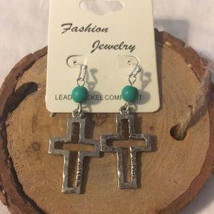 Jewelry - Dangling Cross Earrings
